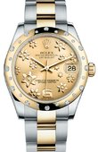 Rolex Datejust 178343 chfo 31mm Steel and Yellow Gold