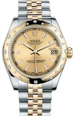 Rolex Datejust 178343 chij 31mm Steel and Yellow Gold