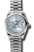 Rolex Datejust Ladies 179166 gbdp 26mm Platinum