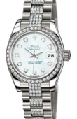 Rolex Datejust Ladies 179136 White MOP D 26mm Platinum