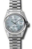 Rolex Datejust Ladies 179296 gbrp 26mm Platinum