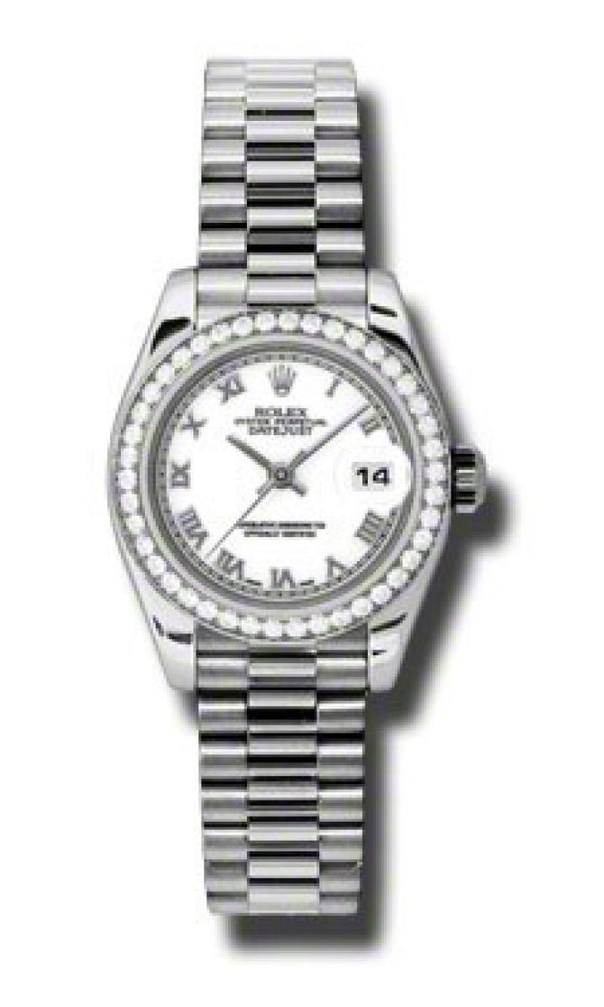 Rolex 179136 wrp Datejust Ladies 26mm Platinum - фото 1