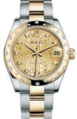Rolex Datejust 178343 chjdo 31mm Steel and Yellow Gold