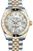Rolex Datejust 178343 mdj 31mm Steel and Yellow Gold