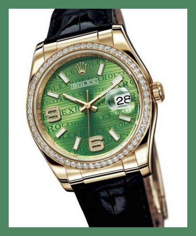 Rolex 116188 Green Datejust 36mm Yellow Gold - фото 2