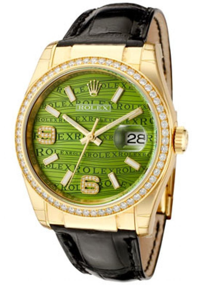 Rolex 116188 Green Datejust 36mm Yellow Gold - фото 3