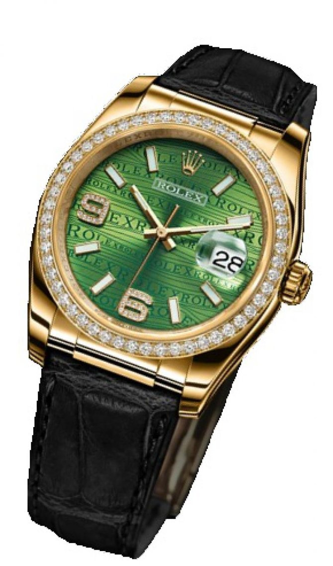 Rolex 116188 Green Datejust 36mm Yellow Gold - фото 4