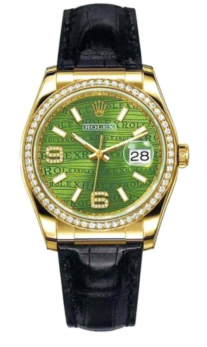 Rolex 116188 Green Datejust 36mm Yellow Gold - фото 1