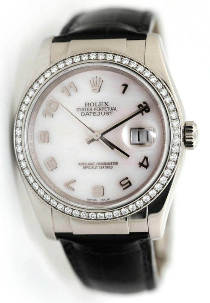 Rolex 116189 md Datejust 36mm White Gold Mother of Pearl