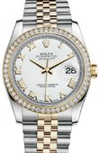 Rolex Datejust 116243 wrj 36mm Steel and Yellow Gold