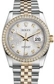 Rolex Datejust 116243 sjdj 36mm Steel and Yellow Gold