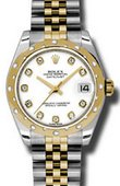 Rolex Datejust 178343 wdj 31mm Steel and Yellow Gold