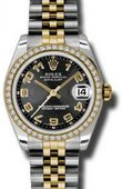Rolex Datejust 178383 bkcaj 31mm Steel and Yellow Gold