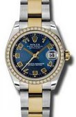 Rolex Datejust 178383 blcao 31mm Steel and Yellow Gold