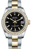 Rolex Datejust 178383 bkio 31mm Steel and Yellow Gold