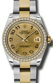 Rolex Datejust 178383 chcao 31mm Steel and Yellow Gold