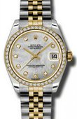 Rolex Datejust 178383 mdj 31mm Steel and Yellow Gold