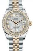 Rolex Datejust 178383 mrj 31mm Steel and Yellow Gold