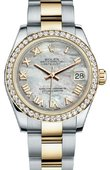 Rolex Datejust 178383 mro 31mm Steel and Yellow Gold