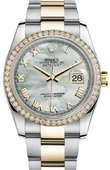 Rolex Datejust 116243 mro 36mm Steel and Yellow Gold