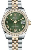 Rolex Datejust 178383 ogdrj 31mm Steel and Yellow Gold