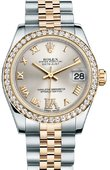 Rolex Datejust 178383 Silver 31mm Steel and Yellow Gold