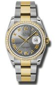 Rolex Datejust 116243 gsbro 36mm Steel and Yellow Gold