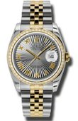 Rolex Datejust 116243 gsbrj 36mm Steel and Yellow Gold