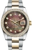 Rolex Datejust 116243 dkmdo 36mm Steel and Yellow Gold