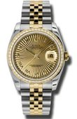 Rolex Datejust 116243 chsbrj 36mm Steel and Yellow Gold