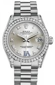 Rolex Datejust 178159 Silver Sapphires 31mm White Gold