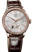 Rolex Cellini 50525 silver dial Dual Time