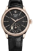 Rolex Cellini 50525 black dial Dual Time