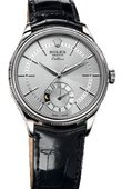 Rolex Cellini 50529 silver dial Dual Time