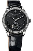 Rolex Cellini 50529 black dial Dual Time