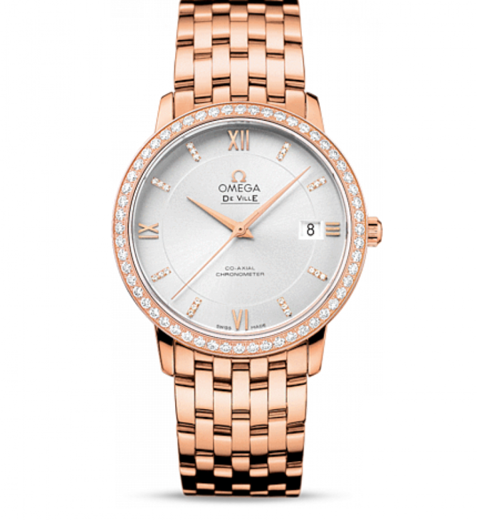 Omega 424.55.37.20.52.001 De Ville Ladies Prestige co-axial 36,8 мм - фото 1