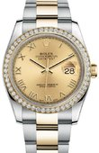 Rolex Datejust 116243 chro 36mm Steel and Yellow Gold