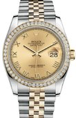 Rolex Datejust 116243 chrj 36mm Steel and Yellow Gold