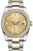 Rolex Datejust 116243 chjdo 36mm Steel and Yellow Gold