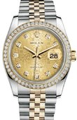 Rolex Datejust 116243 chjdj 36mm Steel and Yellow Gold