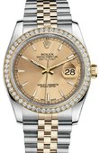 Rolex Datejust 116243 chij 36mm Steel and Yellow Gold