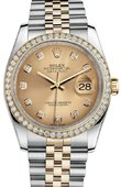 Rolex Datejust 116243 chdj 36mm Steel and Yellow Gold