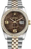 Rolex Datejust 116243 Bronze Floral Jubile 36mm Steel and Yellow Gold
