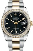 Rolex Datejust 116243 bkio 36mm Steel and Yellow Gold