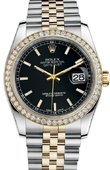 Rolex Datejust 116243 bkij 36mm Steel and Yellow Gold