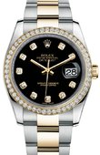 Rolex Datejust 116243 bkdo 36mm Steel and Yellow Gold