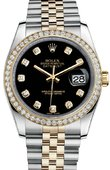 Rolex Datejust 116243 bkdj 36mm Steel and Yellow Gold