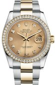 Rolex Datejust 116243 chdo 36mm Steel and Yellow Gold