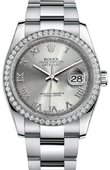 Rolex Datejust 116244 sro 36mm Steel and White Gold