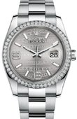 Rolex Datejust 116244 Silver 36mm Steel and White Gold